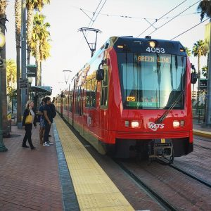 Come on ride the train metro trolley sandiego